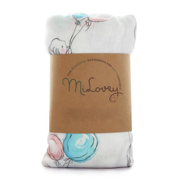 "Bamboo swaddle blanket ""Dreams"""